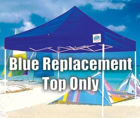 Eclipse Blue Replacement Top Only 10 x 10 ft. EZ-UP Open Shelter by EZ-UP. $328.99. Each. 10' X 10' Open shelter top only - (For complete unit, add 42033 frame). csi model# 42034. Eclipse Blue Replacement Top Only 10 x 10 ft. EZ-UP. Open Shelter canopy system. The top stays attached to the frame and the durable fabric is treated to resist fire, rot, mildew, water, and ultraviolet rays. BLUE REPLACEMENT TOP ONLY