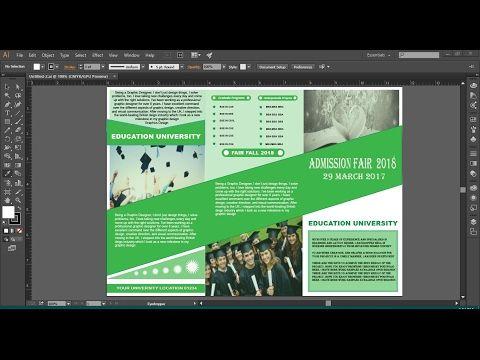 How to make Brochure  in Illustrator cc - YouTube