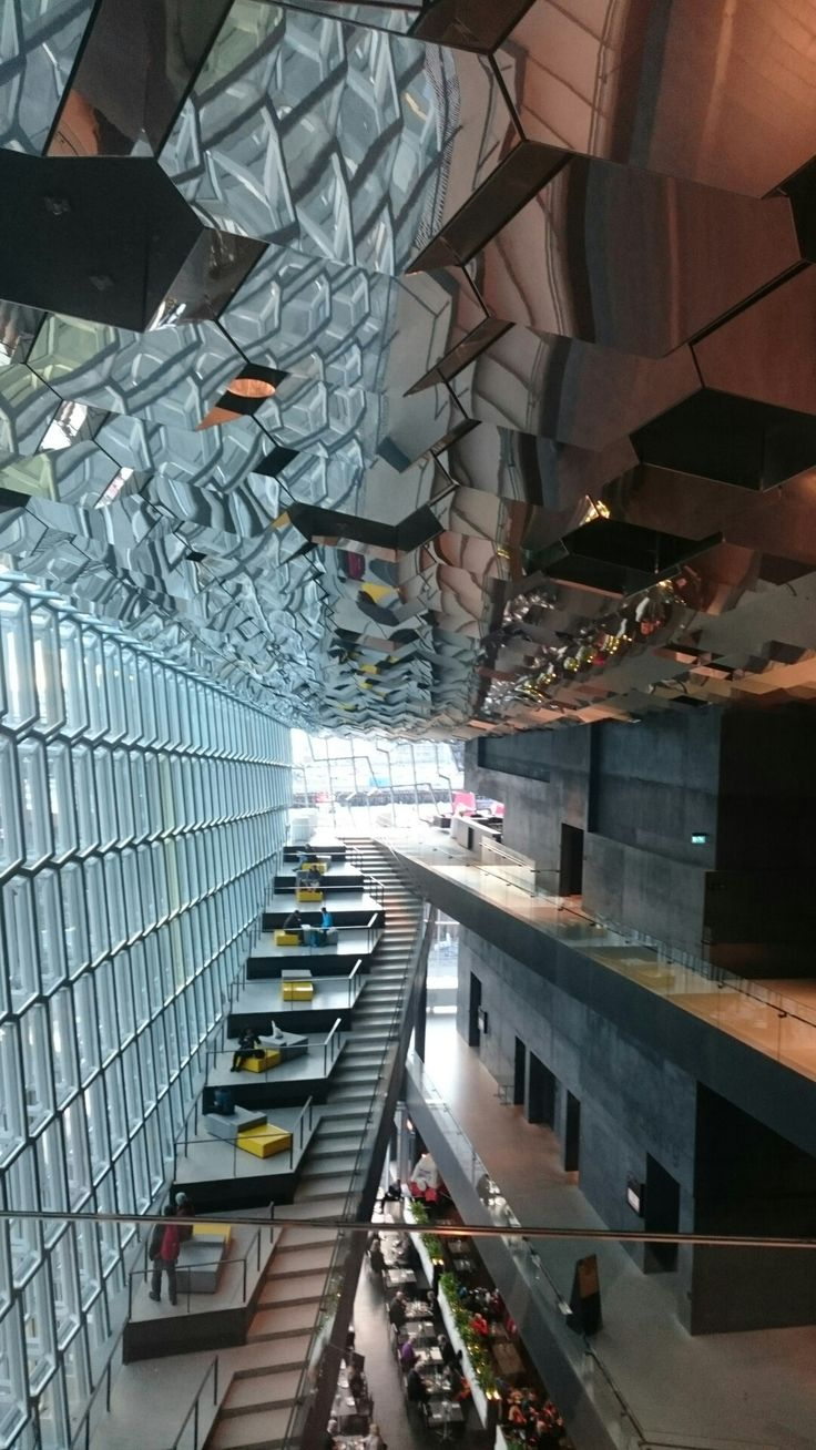 Inside the harpa concerthouse