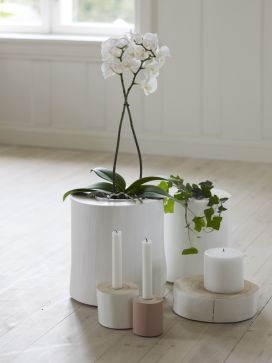 SMÅ OG STORE GRENER - light candles and flowerpoot from wood!