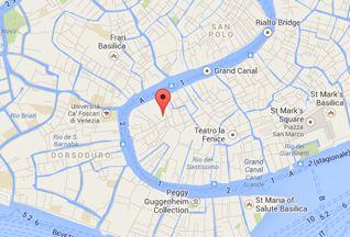 Hotel San Samuele's location. Where we are in #Venice.  #nearSanMarco #PalazzoGrassiVenice #venice
