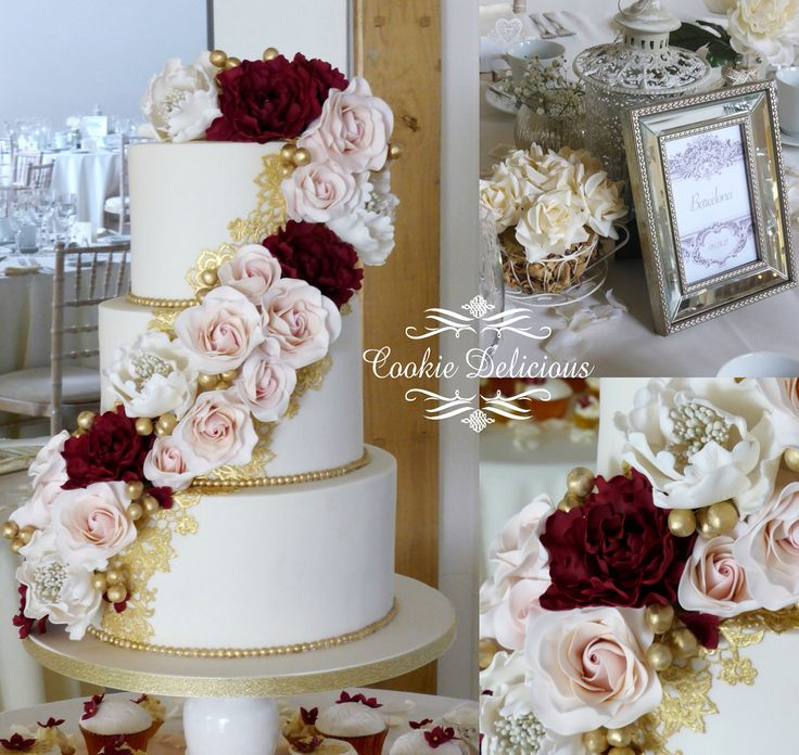 rose gold and burgundy wedding cake 1000 ideas about champagne wedding cakes on 19266