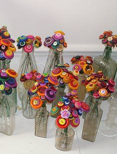 Button Flower Bouquet ~ Adorable