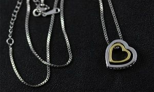 Groupon - Κολιέ Διπλή Καρδιά, με Swarovski Elements (από 19€) σε [missing {{location}} value]. Τιμή Groupon: 19€