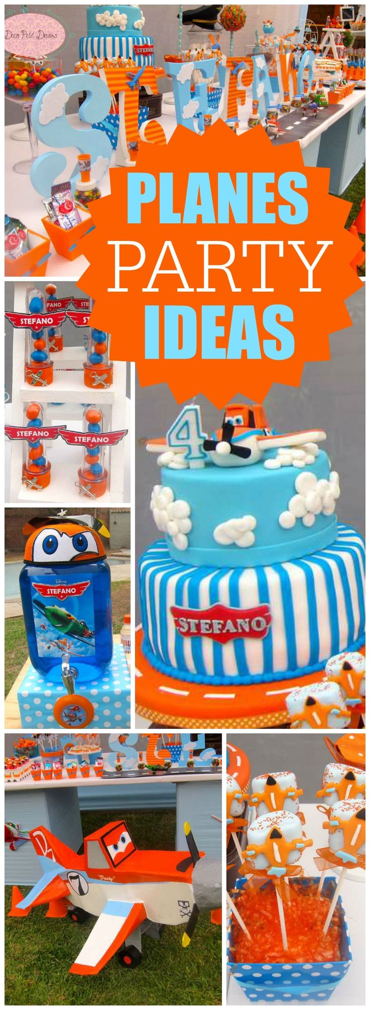 Muchas nubes y aviones para un cumpleaños lleno de creatividad!