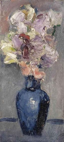 Kees van Dongen - Le vase bleu, oil on canvas