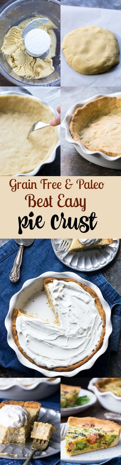 The best easy paleo pie crust for your favorite dessert pies or savory pies and quiches! The dough comes together in minutes in a blender and is gluten free, grain free, dairy free, family approved, and very versatile.