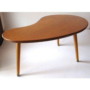 Retro 60s Eames Tasmanian Oak Kidney Shape Coffee Table Diecast Model For Sale New