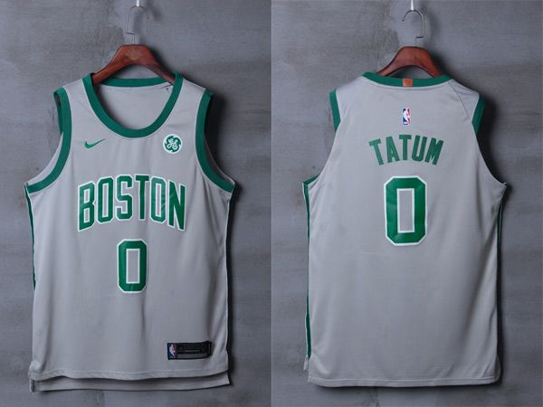 Nike NBA Boston Celtics  0 Jayson Tatum Jersey 2017 18 New Season City  Edition Gray Jersey 3ba086153