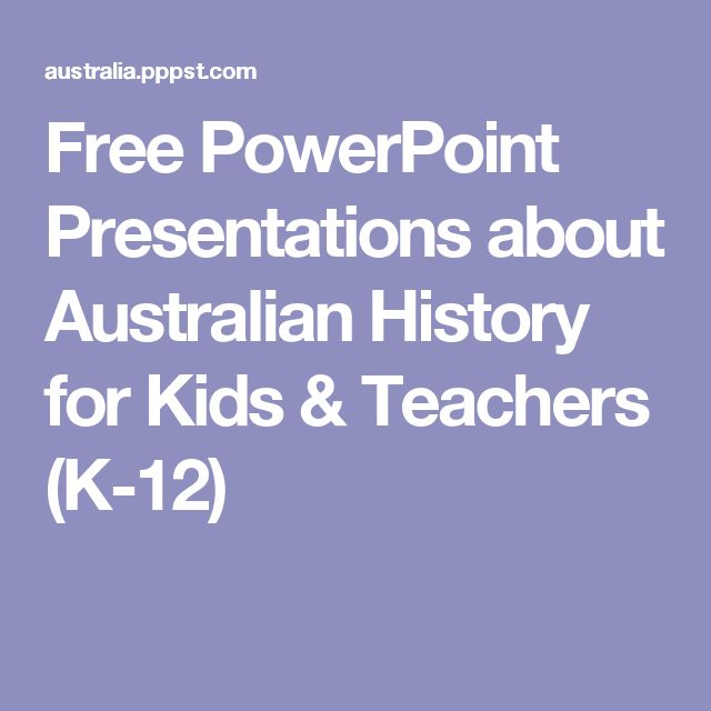 Free PowerPoint Presentations about Australian History for Kids & Teachers (K-12)
