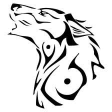 Wolf drawing or could be for a tatoo