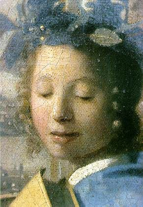 Detail study of face from Vermeer painting