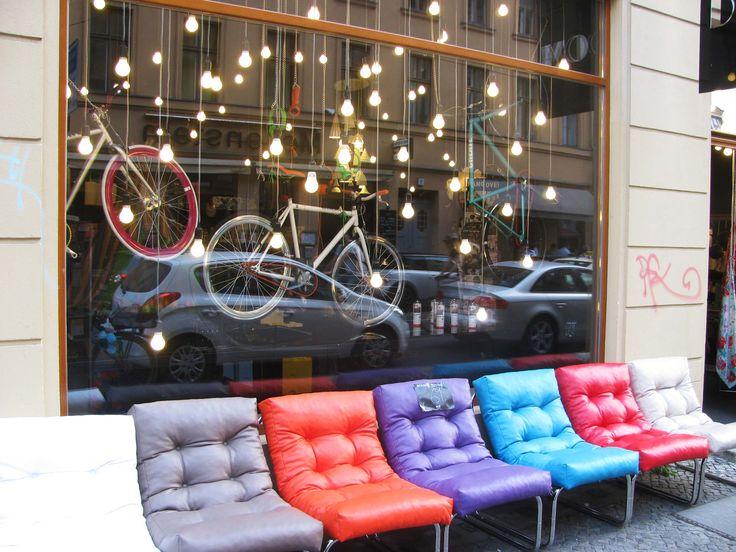 bike shop storefront display