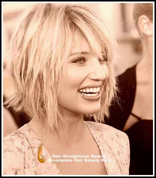 Funky Hairstyle - Dianna Agron's Funky Bob with Side Bangs
