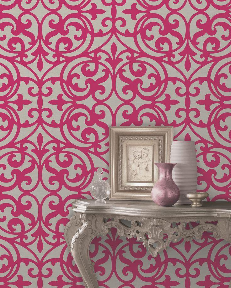 Girls Chic Wallpaper Kids Bedroom Feature Wall Decor: 1000+ Ideas About Feature Wallpaper On Pinterest