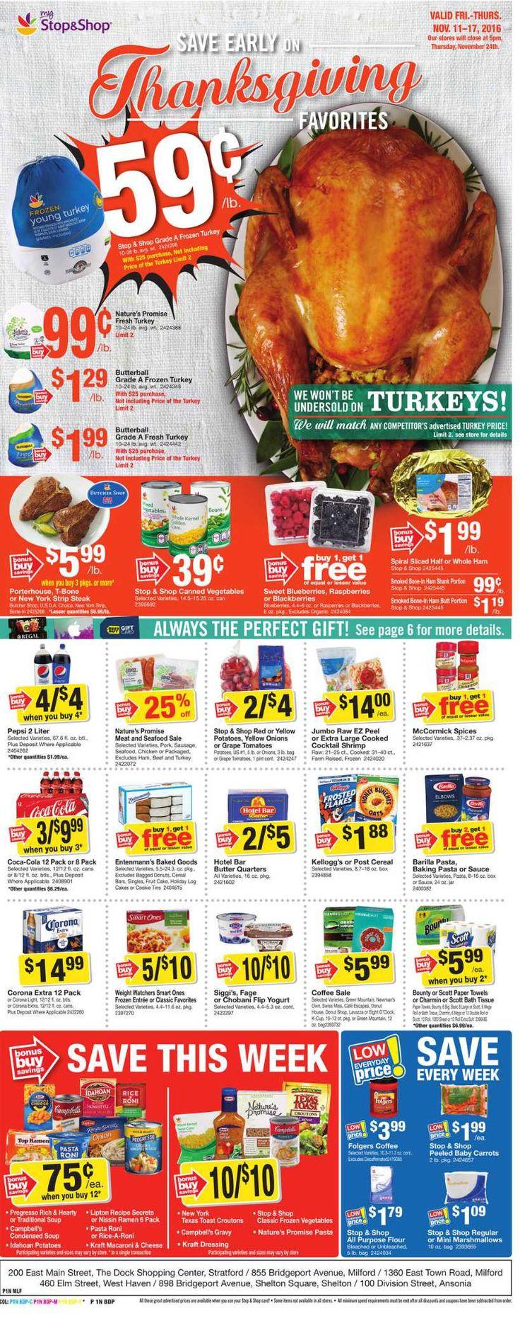 Stop and Shop Circular November 11 - 17, 2016 - http://www.olcatalog.com/grocery/stop-and-shop-circular.html