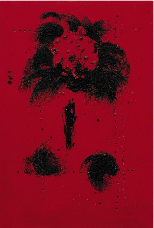 ЛУЧИО ФОНТАНА Пространственный концепт. Портрет Карло Кардаццо. 1956. Холст, масло, смешанная техника. 125 х 85 Оценка аукциона (эстимейт): 1–1,5 миллиона фунтов