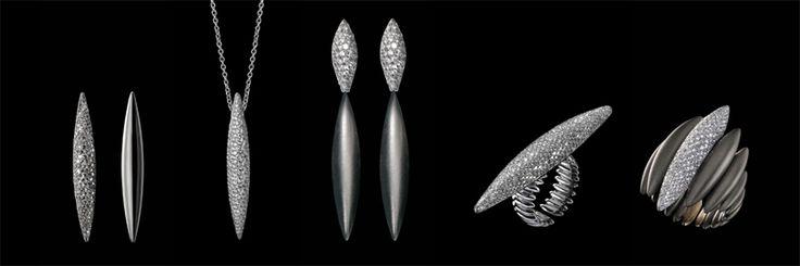 Massimiliano Bonoli - Jewelry Parure #parure #titanium #diamonds