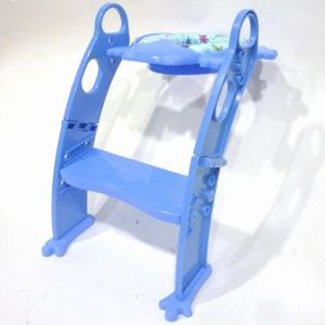 Potty Seat With Adjustable Ladder (Blue)