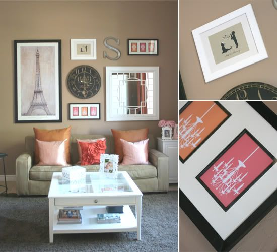 livingroom wall collage and cool blog