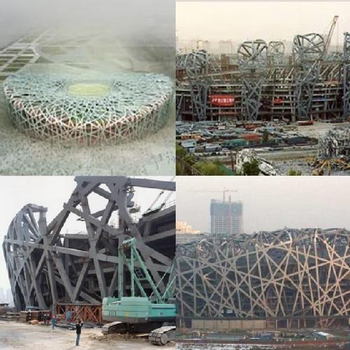 """Estadio Olímpico Nacional de Beijing : El Estadio Olímpico de Beijing costará 500 millones de dólares y será utilizado para la ceremonia inaugural y ceremonia de cierre de los Juegos Olímpicos de Pekín en el año 2008 - Beijing 2008.  El futuro Estadio Olímpico Nacional de Pekín, conocido también como """"estadio-nido de pekín"""" estará concebido con mallas enredadas de nido metálico y un ..."""