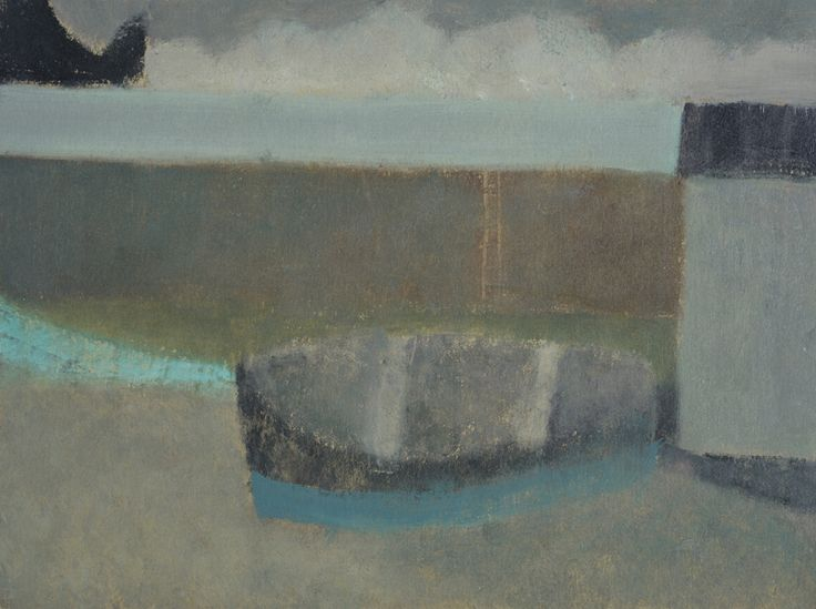 Nicholas Turner 'Boat at Mullion Cove', oil on board