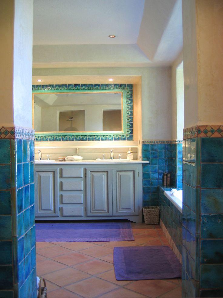 bathroom tiles - handmade tiles - ceramic tile 1001 nights turquoise