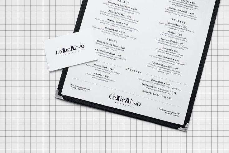 Alexey Malina for Calicano Restaurant #AMS #AlexeyMalina #Branding #Identity #DesignIntelligence
