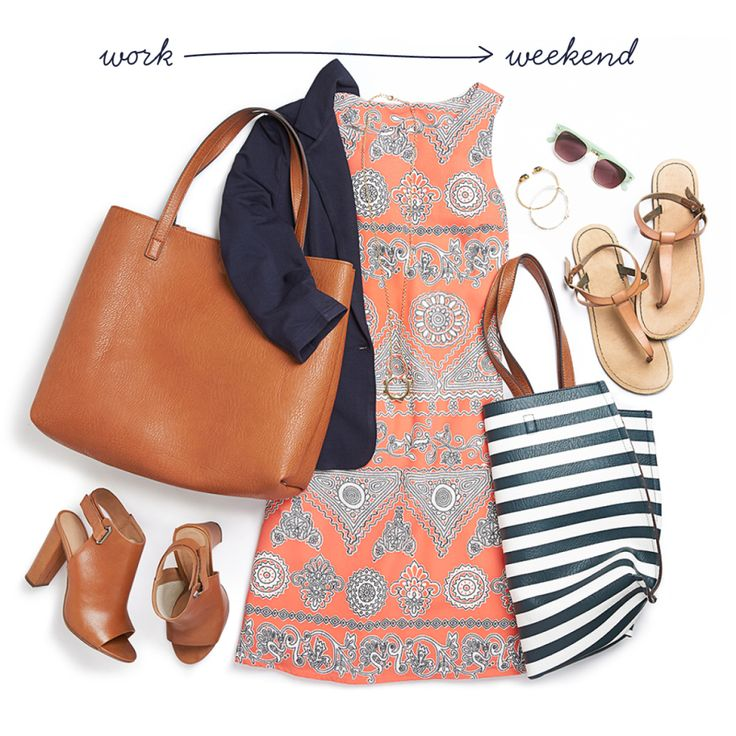 Lucky enough to celebrate half-day Summer Fridays at work? Check out 5 quick outfit changes that go from filing to freedom in no time.
