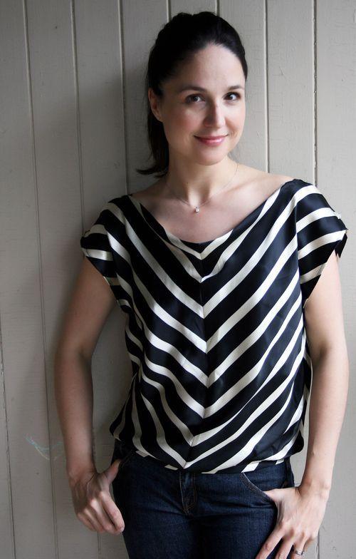 Silk Skirt to Top Refashion Tutorial