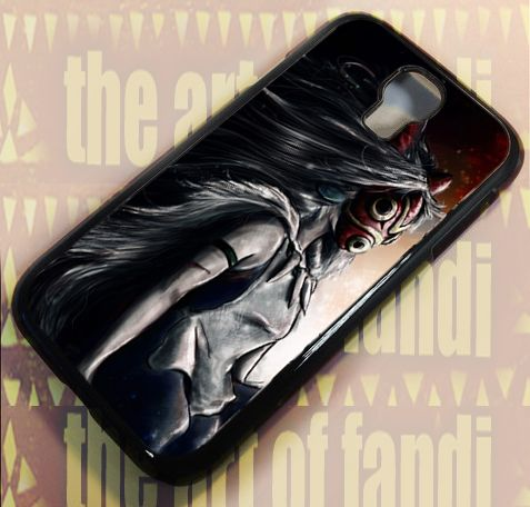 Princess Mononoke For Samsung Galaxy S4 Black Rubber Case