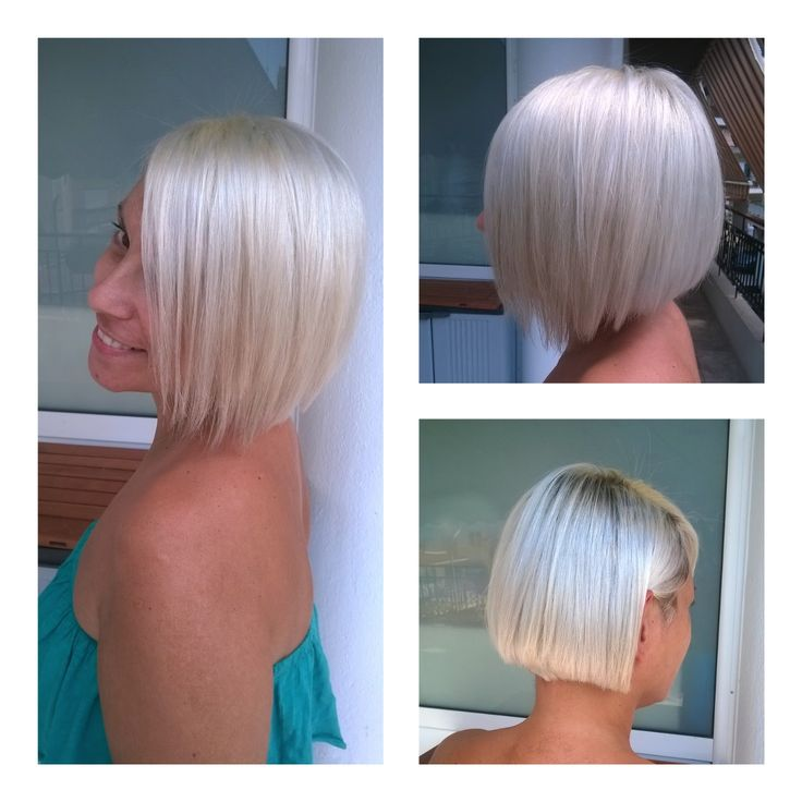Ice blonde haircolor by Penny Voudouri