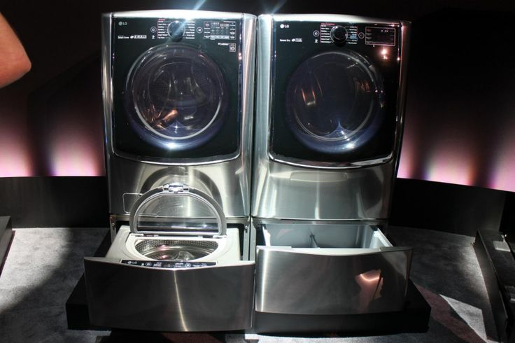 lg twin wash system adds mini washer pedestal
