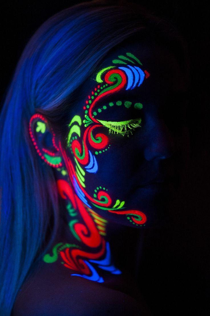 194 best Uv black light, neon face paint images on ...