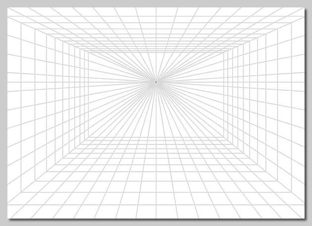 Drawing One Point Perspective and free one point perspective grid for printing