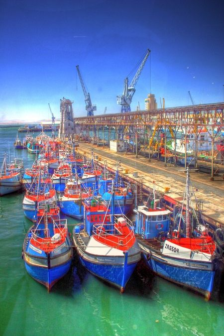 Boats in Port, Cape Town, South Africa
