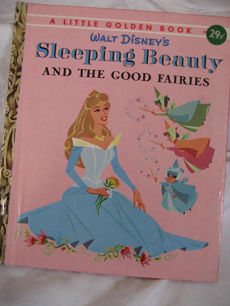 VINTAGE 1st Edition 1958 Walt Disneys Sleeping Beauty and The Good Fairies Little Golden Book.