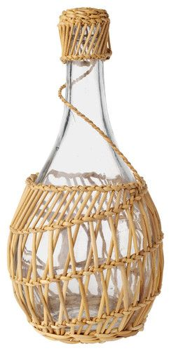 Tunisian Basket Weave Wine Carafe. Great for a dinner party on the table