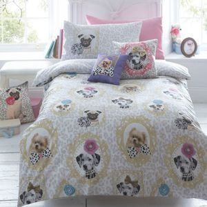 Star by Julien Macdonald Designer children's light grey 'Coco and Friends' duvet set- at Debenhams Mobile