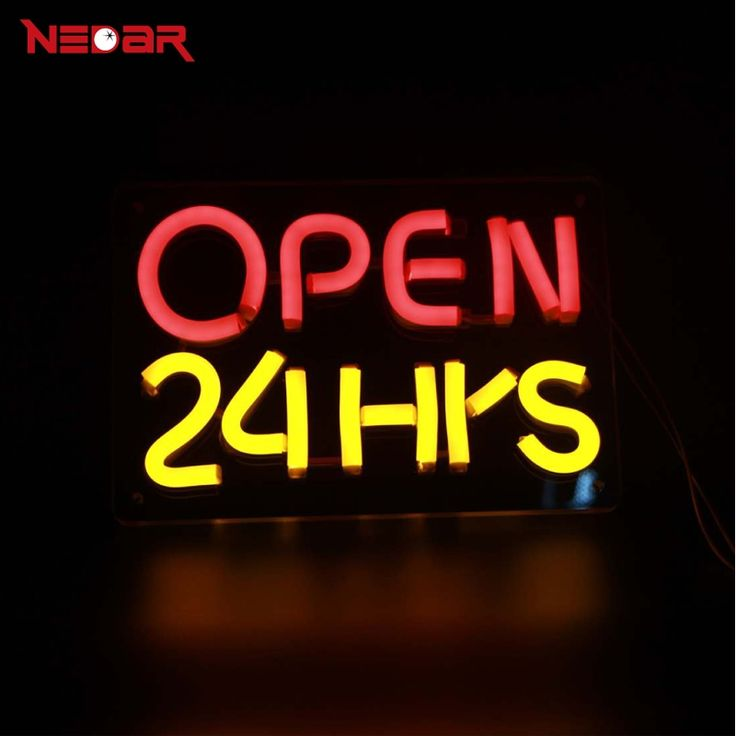 45.00$  Watch now - http://ali4zd.shopchina.info/1/go.php?t=32816316580 - LED Neon Open 24 Hours Sign with 12V ultra bright led neon flexible tube and clear acrylic customized DIY led advertising lights 45.00$ #bestbuy