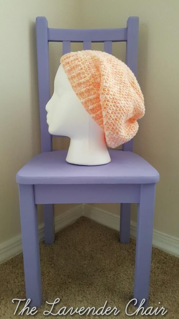Simply Slouchy Beanie - Free Crochet Pattern at The Lavender Chair.