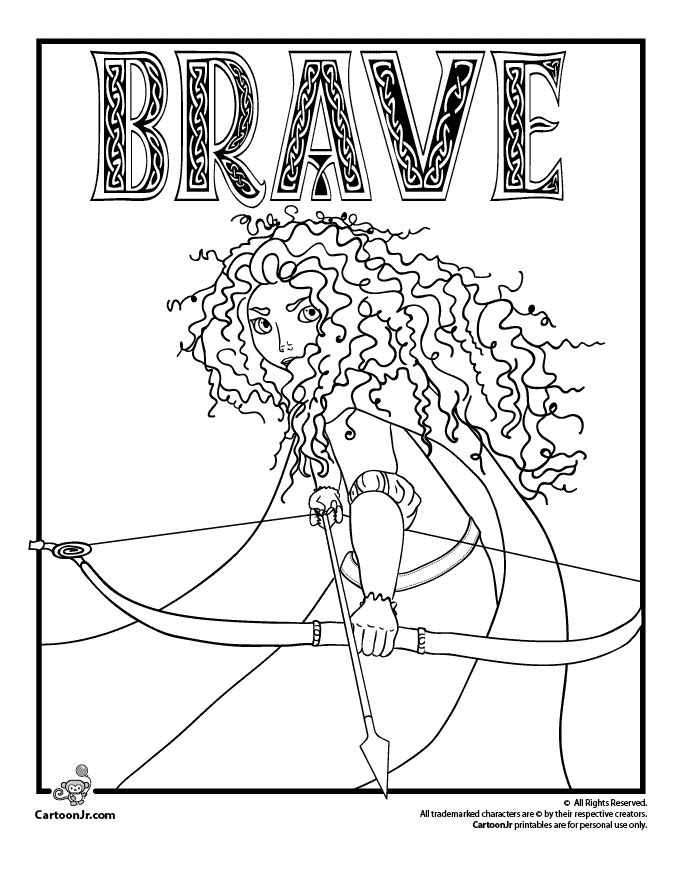 disney pixars brave coloring pages