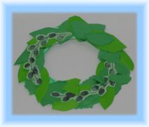 Preschool Crafts for Kids*: Olympic Olive Wreath Crown Craft 3