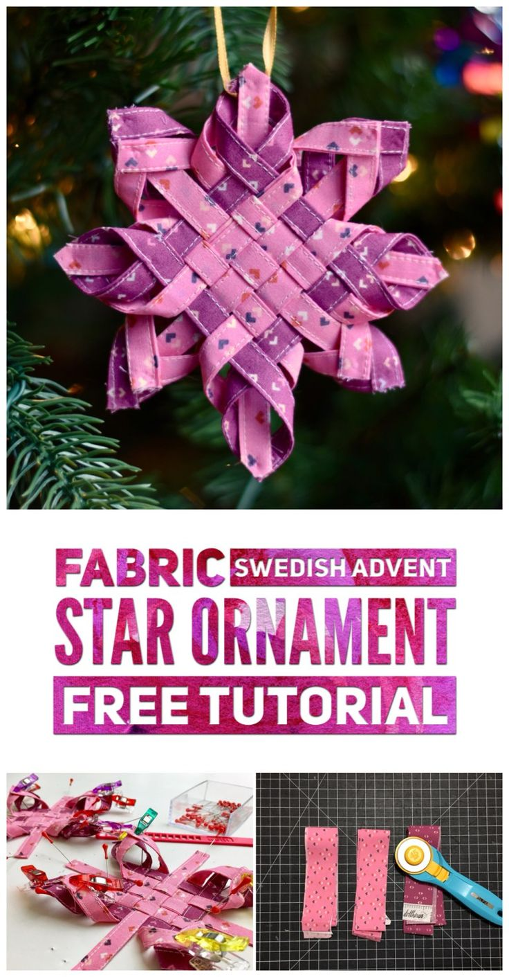 Fabric Swedish Advent Star Ornament - Ornament Along - sewing and crafts - Christmas and holiday decor