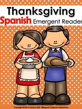 "This Thanksgiving themed Emergent Reader in Spanish is perfect for working on frequently used sight words. Each sentence begins with ""Yo como..."", the text repeats on every page with great pictures for getting a picture clue.If you like this resource, you may like my other Thanksgiving Resources:Thanksgiving/Dia de Gracias Preschool Pack {Spanish Version}.Thanksgiving Roll and Cover Games.As always, if there is something you would like to see added or if you see an error..."