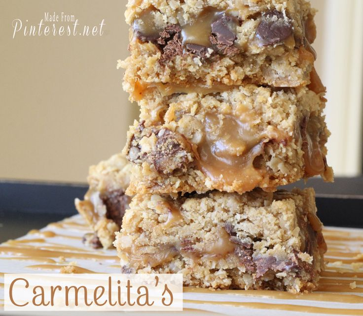 Carmelita's - These are one of the best dessert recipes on Pinterest! They are AMAZING!