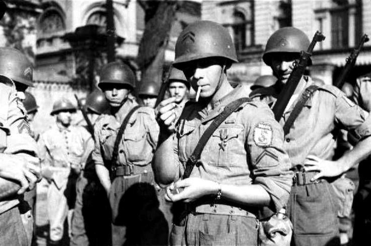 Brazilian soldiers at the Battle of Monte Cassino during the Italian Campaign. 25,700 Brazilian men and women fought alongside the Allied forces in the Mediterranean Theater. Brazil was the only independent South American country to send troops to fight in the war. This air-land force fought with distinction in Italy from September 1944 to May 1945, while the Brazilian Navy as well as the Brazilian Air Force also operated in the Atlantic Ocean from the middle of 1942 until the end of war.