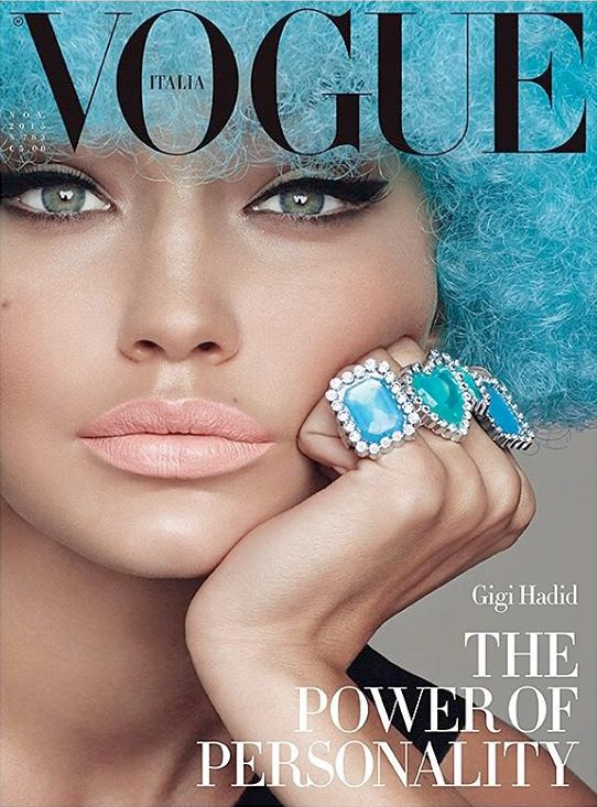 Gigi Hadid by Steven Meisel for Vogue Italia November 2015 Cover