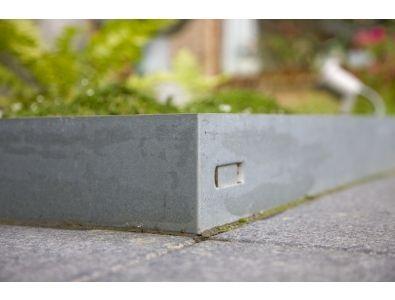 Traptreden en Borders :: Metalen/Kunststof kantplanken :: COL-MET Verzinkt 225cm - Lek Tuinmaterialen