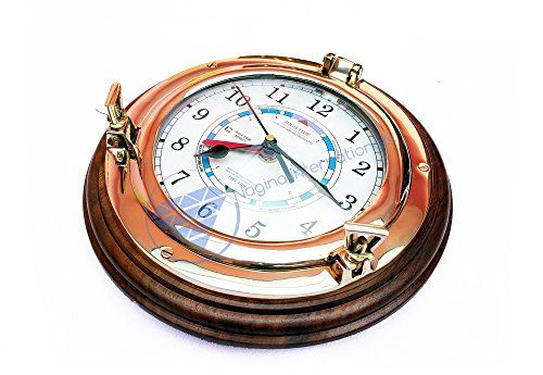 Nautical Time Tide Clock With Brass Porthole & Wooden Bas... http://www.amazon.com/dp/B01FN2QWPQ/ref=cm_sw_r_pi_dp_uVEoxb1N23052